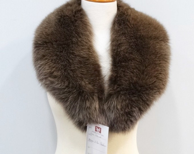 Real Fox Fur Collar,Special for Leather Jacket No25