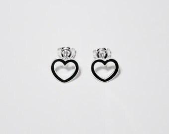 Small empty Heart Earrings - Classic earrings - Casual earrings