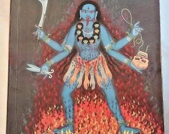 aghori sadhu tantric book with goddess kali on cover, very rare book