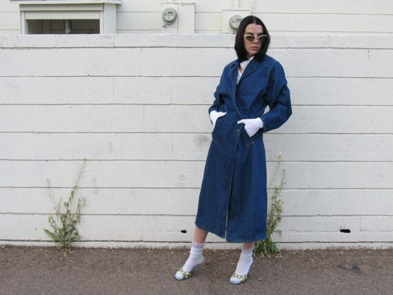 80s Denim Trench