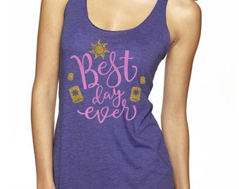 best day ever tangled magicaly glitter shirt
