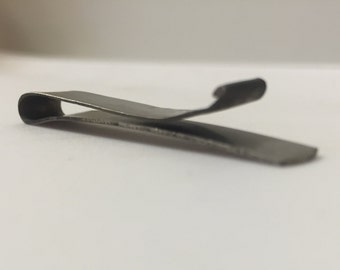 Hand Forged Titanium Tie Clip (Brushed)