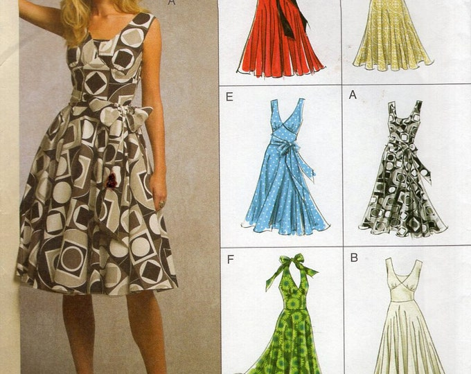 Vogue 8470 Sewing Pattern Free Us Ship Easy Option Halter Dress Evening Length New Size 8 10 12 14 16 Bust 31 32 34 36 38 2008 Out of Print