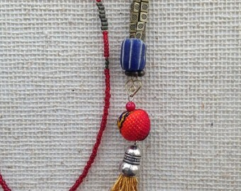 Tassel necklace, Layering necklace,