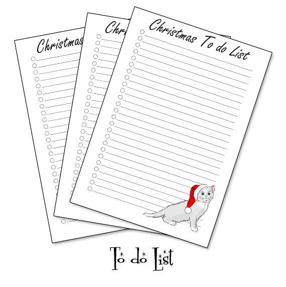 Christmas To do list planner insert, To do list A5 planner insert, to do list printable INSTANT DOWNLOAD