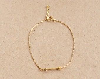 Gold Plated Arrow Bracelet, 925 Sterling Silver, Arrow jewelry, Jewelry for Women, trendy Bracelet