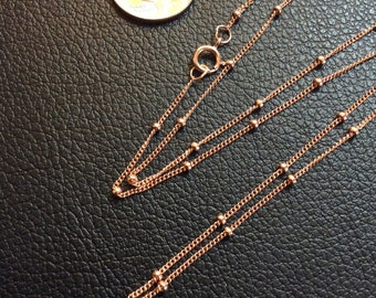 "18"" Rose Gold-Filled Satellite Chain"