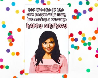 Mindy Project Mindy Kaling Card (The Office, Kelly Kapoor, Birthday Card, Tina Fey, Amy Poehler, New Girl) 100% Recycled Paper