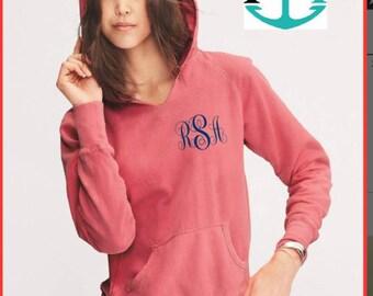 Monogrammed hoody,Monogrammed Comfort Colors Hoodie, Monogrammed Comfort Colors Hoody, Comfort Colors Hoody, Comfort Colors Hoodie - CC