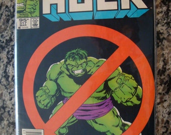 The Incredible Hulk Issue 317 Marvel Comic 1986