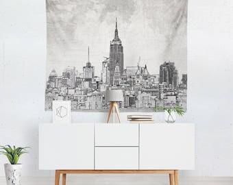 New York Tapestry | New York Wall Tapestry | New York Wall Décor | New York Tapestries | New York Wall Art | New York Art | New York Décor