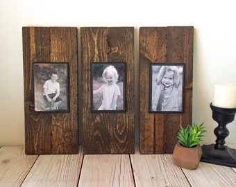 Rustic Wood Frame - Picture Frame Set - Rustic Picture Frame Set - Wood Picture Frame - Farmhouse Decor - Rustic Home Decor - Wall Hanging