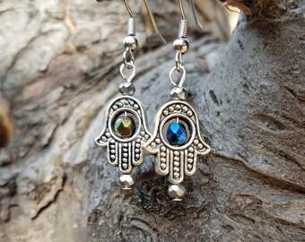 Hamsa earrings