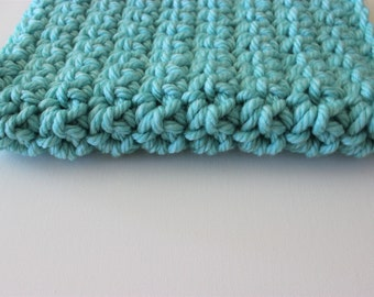 Chunky blanket, blue Mini blanket, basket stuffer, photography prop, baby accessories, prop, thick and thin, newborn, chunky mini blanket