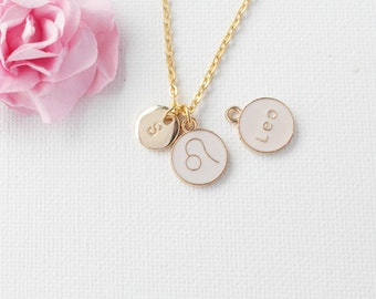 Leo Zodiac Sign Astrology Necklace, Leo necklace, star sign necklace,star sign necklace, July and August birthday / GFZSSNLEO1