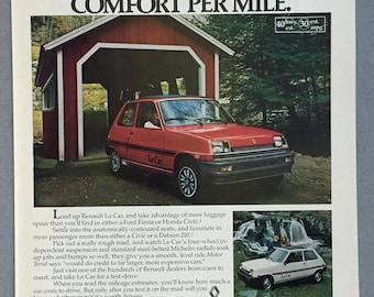 1980 Renault Le Car Print Ad