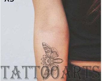 Moth tattoo etsy for Blackwater tattoo studio