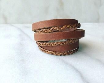 Triple Leather Wrap Bracelet | Women's Leather Wrap Bracelet | Women's Bracelet | Gift for Her, Wife gift