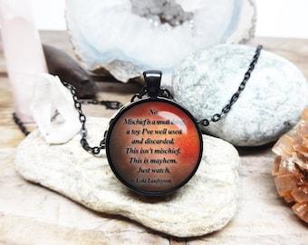 Loki quote necklace loki necklace loki jewelry marvel necklace marvel villain necklace Loki Laufeyson necklace loki of asgard hero necklace