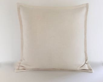 "Designer Pillow -  Accent Pillow - Decorative Pillow Cover - Ivory Basketweave Throw Pillow 20"" x 20"""