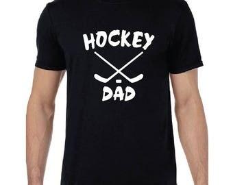 Hockey Mom or Dad - Black, White or Gray T-Shirt