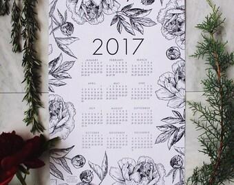 2017 Botanical Letterpress Calendar
