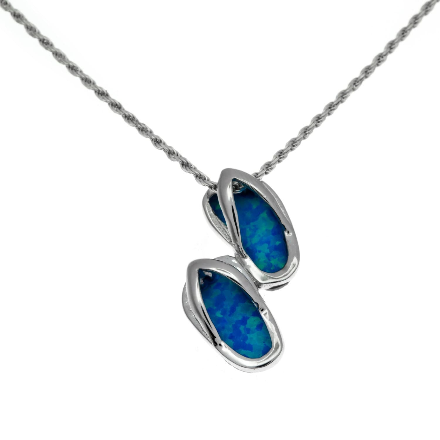 pendant blue designs necklace laamb gators flip flop gator product