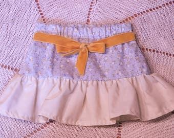 Vintage inspired baby ruffle skirt