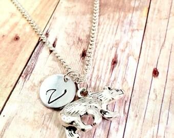 Mama Bear necklace, Mama Bear charm, initial necklace, personalized necklace, Bear necklace, mother jewelry, New mom gift, grizzly, Alaska