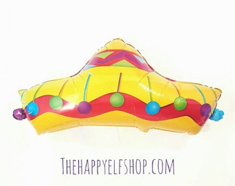 "41"" Sombrero balloon. Fiesta balloon. Cinco de mayo party. Cinco de mayo decor. Taco Party. Fiesta party. Taco night party. Fiesta"