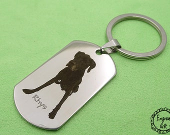Custom Photo Engrave Stainless Steel Dog Pet ID Tag