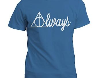 T-Shirt | Harry Potter Inspired Always Tee Top | Gift Tshirt