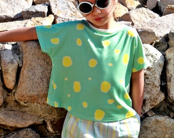 Cross back printed shirt/Toddler girl short sleeve shirt/Girls t shirt/Kid casual shirt/Summer shirt top/Beach shirt/Printed top/Short shirt