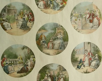 Antique French Print Sheets for Miniatures (sheet 2)
