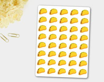 Mexican Food Stickers, Taco Stickers, Taco Planner, Planner Stickers