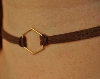 Gold Hex Choker