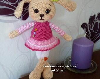PATTERN - Miss Bunny - crochet pattern, amigurumi pattern, bunny pattern PDF