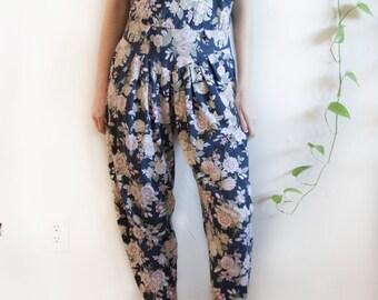 Vintage Floral Jumpsuit Romper Onesie