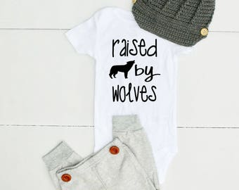 Raised by Wolves Onesie® - Hipster Onesie® for Boy - Boys Hipster Onesie® - Hipster Clothes - Hipster Clothing for Boys