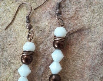 Simple earrings dangle drop earrings straight/stack/stylish/fashion/modern/elegant/wedding/bridesmaid/mother bride/mother groom/earrings