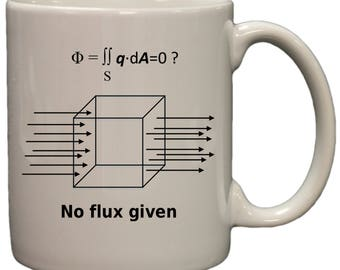 No Flux Given Funny Science Physics 11 oz Ceramic Coffee Mug (white)