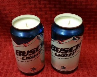 Custom Scented Soy Candle - A single Busch Light Can Soy Candle with personalized Fragrance in 12 oz Aluminium Can