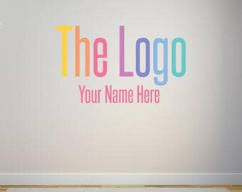 vinyl wall decal custom wall decal your logoart with name