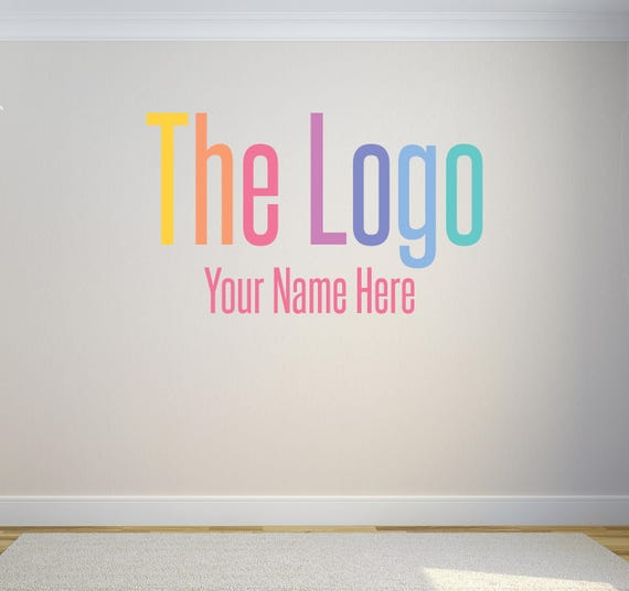 Vinyl Wall Decal Custom Wall Decal Your Logoart With Name - Custom vinyl wall decals logo