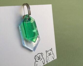 Cristal custom Cat tag - Precious stones jewelry quartz plexiglass - Green Custom Pet ID Tags Laser Cut Cat Tag