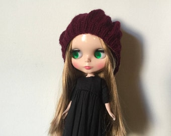 Blythe doll knitted hat/ beret