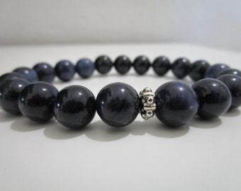 Dumortierite bracelet, gemstone bracelet for man, gift for man, Dumortierite,Mens stone bracelet,mens jewelry
