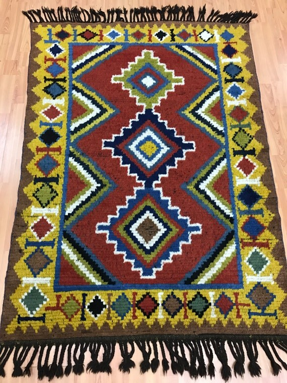 "3'9"" x 5'2"" Antique Persian Gabbeh Oriental Rug - 1940s - Hand Made - 100% Wool"