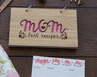 Mom's Best Recipe book, Gourmet Mom's Mother's day Gift Blank recipe book