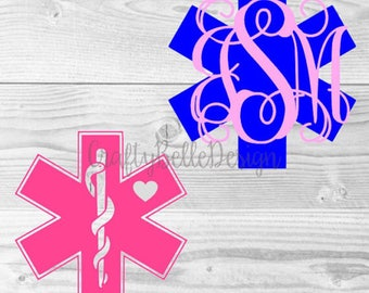 Star of Life Decal   EMT Monogram Decal   Paramedic Monogram Decal   Med Student Decal   Binder Decal   Yeti Monogram Decal   Medical Decal